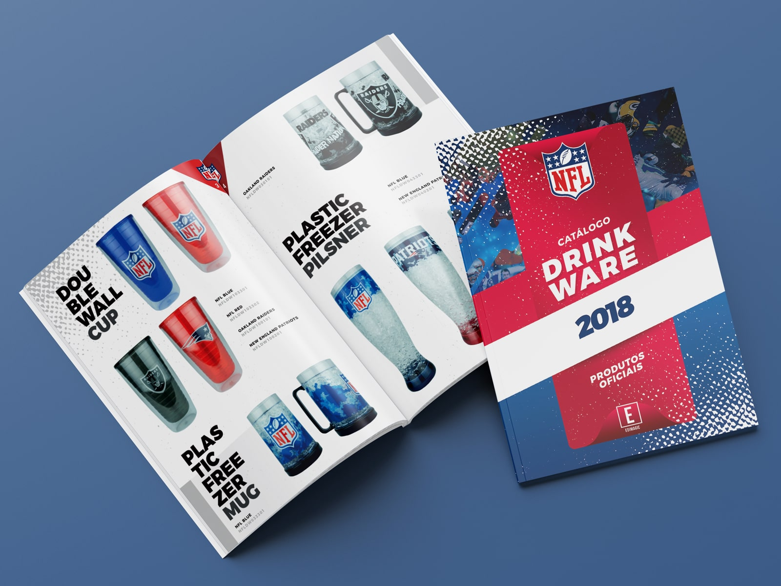 Catálogo NFL Drink Ware