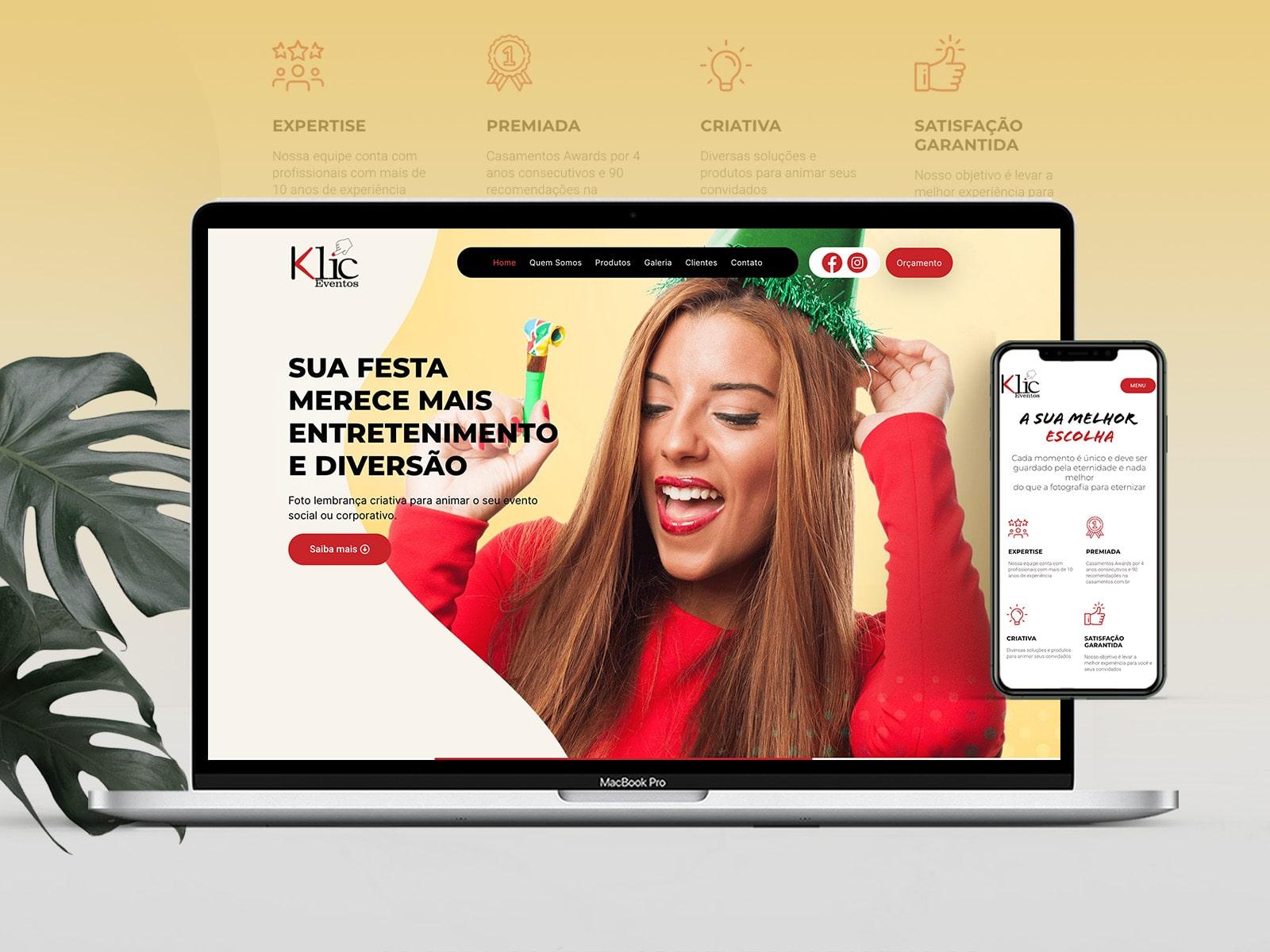 Site Klic Eventos